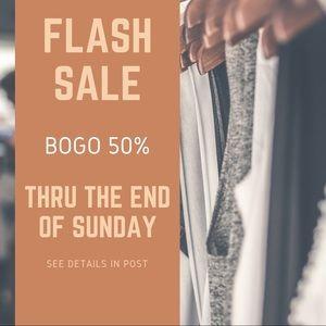 BOGO! FLASH SALE THRU SUNDAY